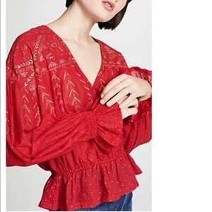 New Free People Counting Stars Blouse